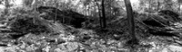 Carter Caves Pano - 1-B&W